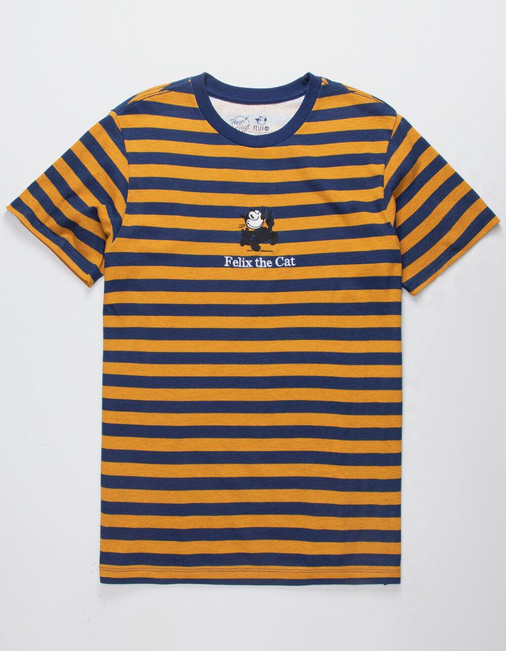 NEON RIOT Felix Wink Navy Stripe T-Shirt