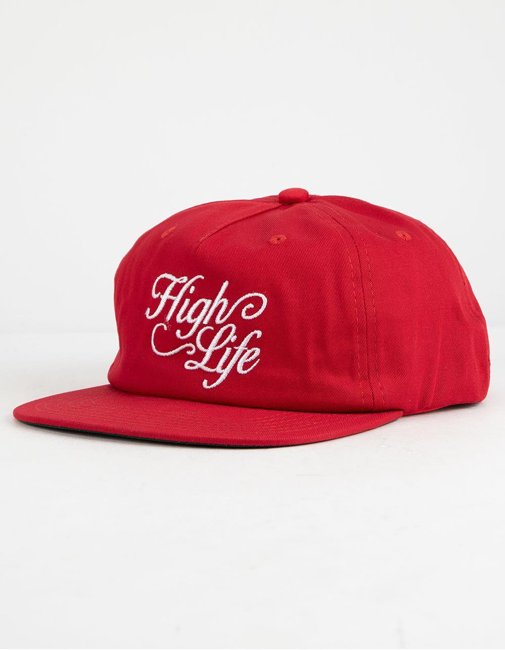 Image of DGK HARVEST RED STRAPBACK HAT