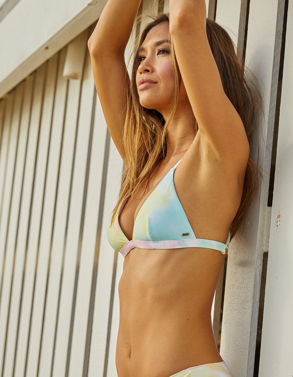 RIP CURL Tie Dye Crossback Fixed Triangle Bikini Top