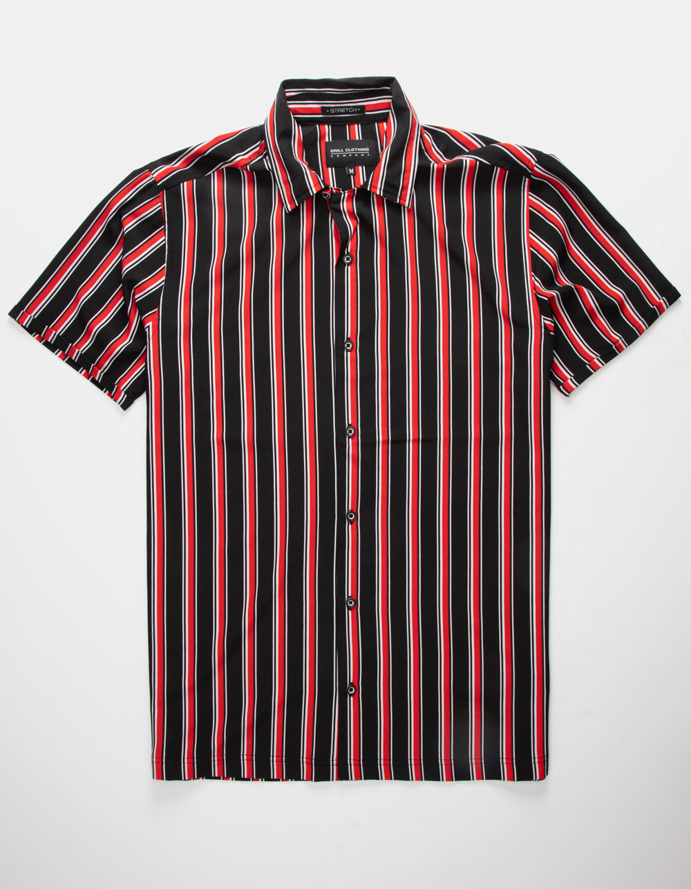 Image of DRILL CLOTHING VERTICAL STRIPE RED & BLACK SHIRT