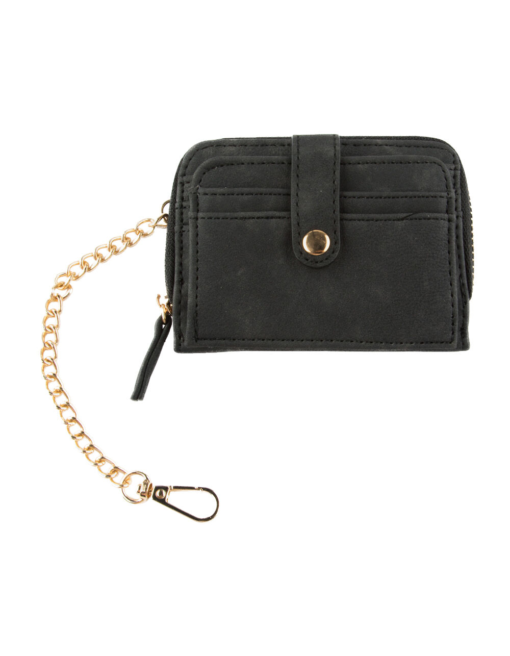 VIOLET RAY ZIP AROUND BLACK WALLET