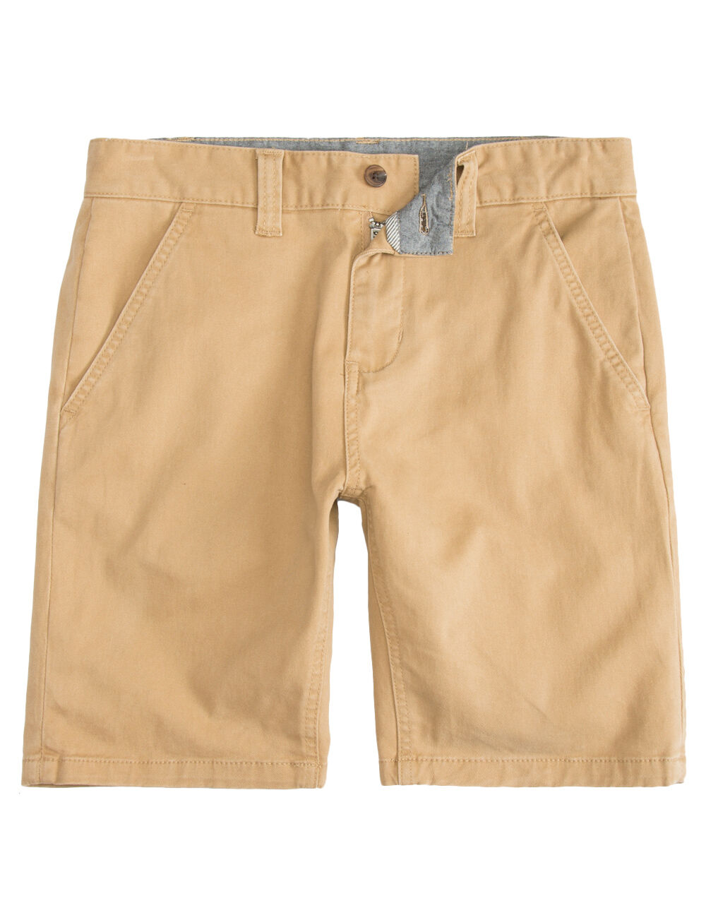 Image of CHARLES AND A HALF LINCOLN STRETCH DARK KHAKI SHORTS