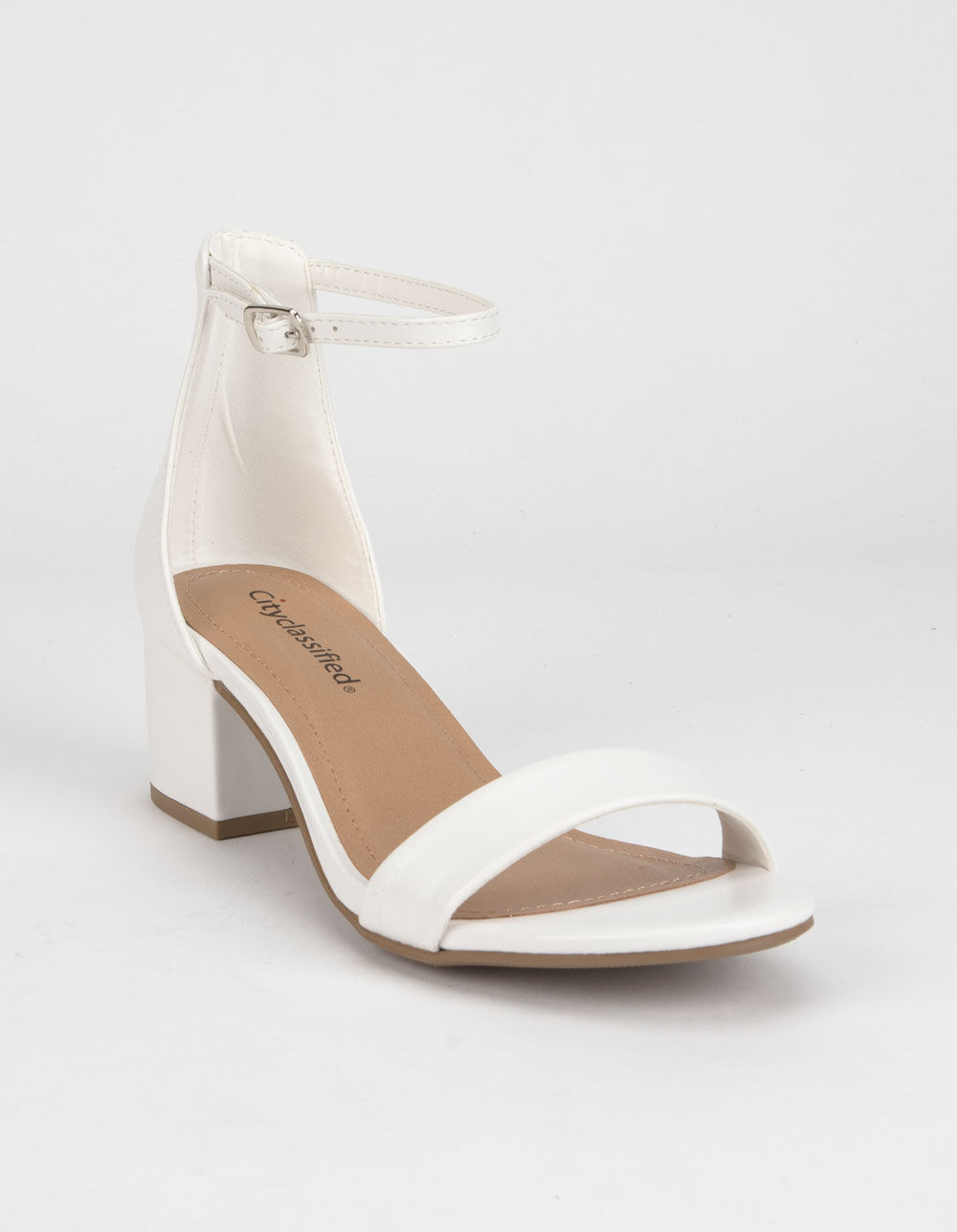 CITY CLASSIFIED Weekend White Heeled Sandals