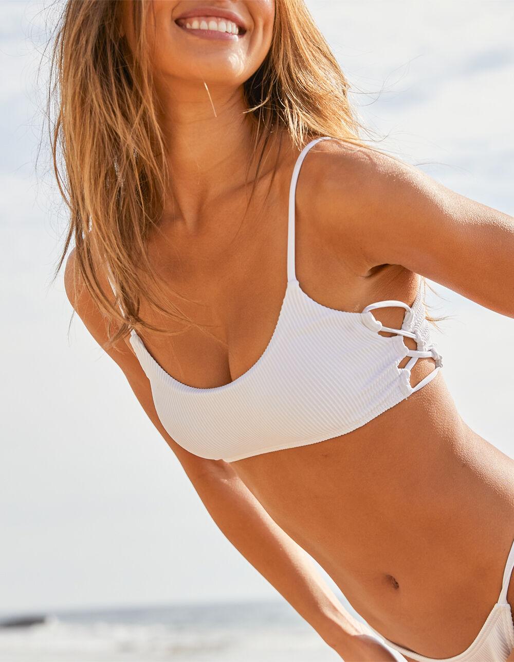 DAMSEL Lace Up Side Bralette Bikini Top