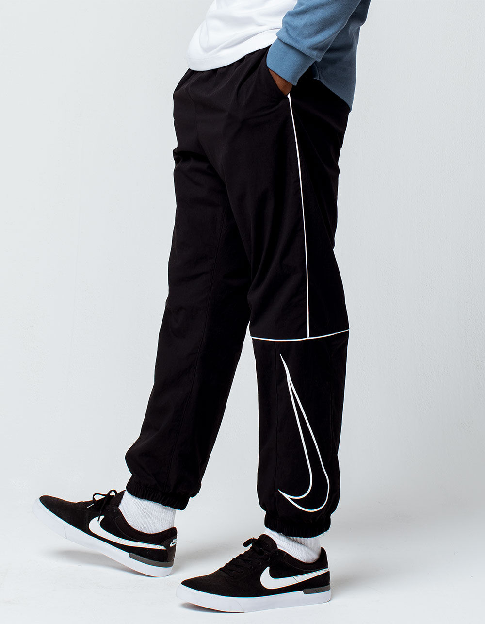 NIKE SB Swoosh Black Track Pants