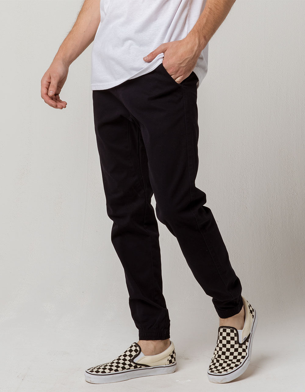 CHARLES AND A HALF Midnight Blue Twill Jogger Pants