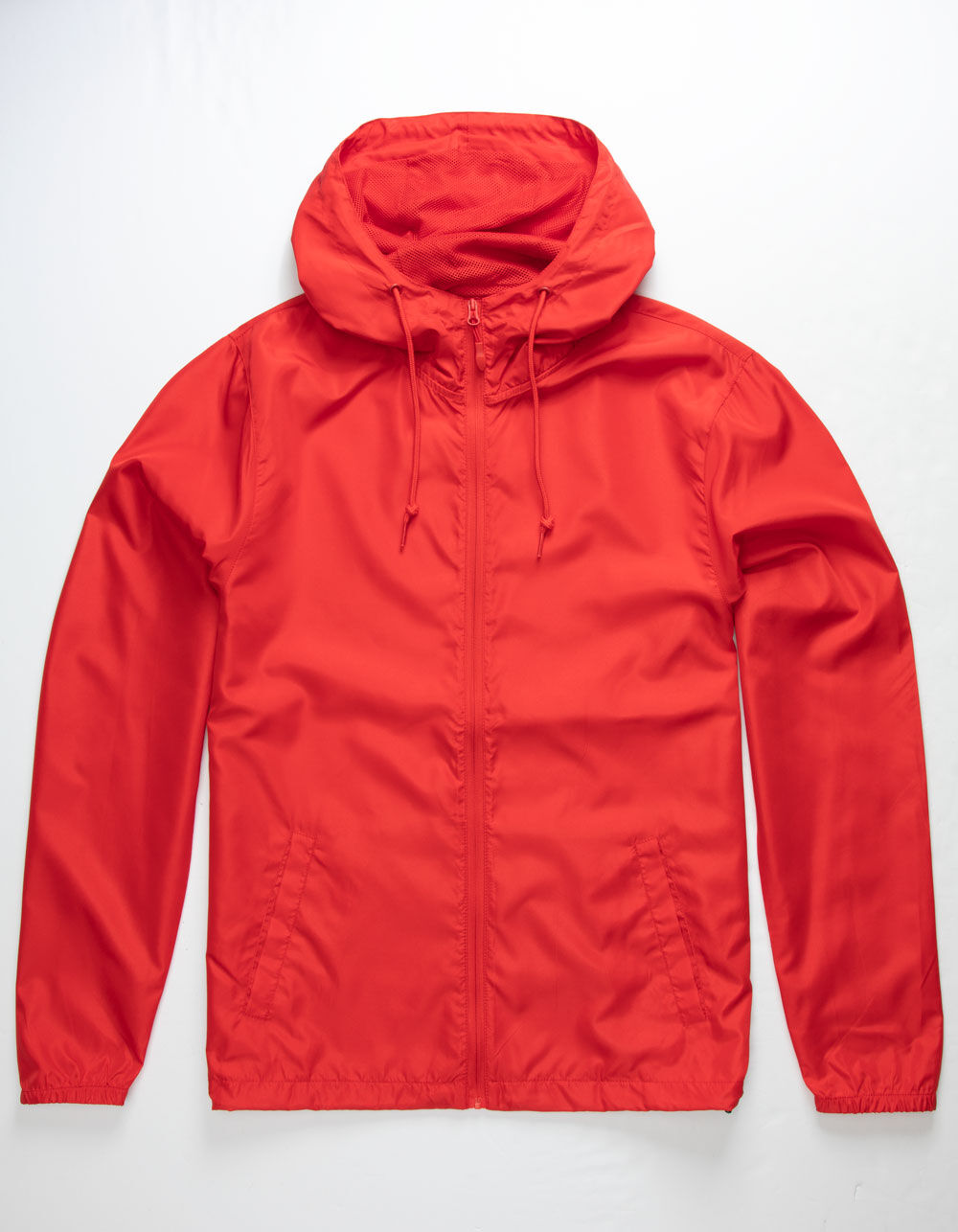 INDEPENDENT TRADING COMPANY Lightweight Red Windbreaker Jacket
