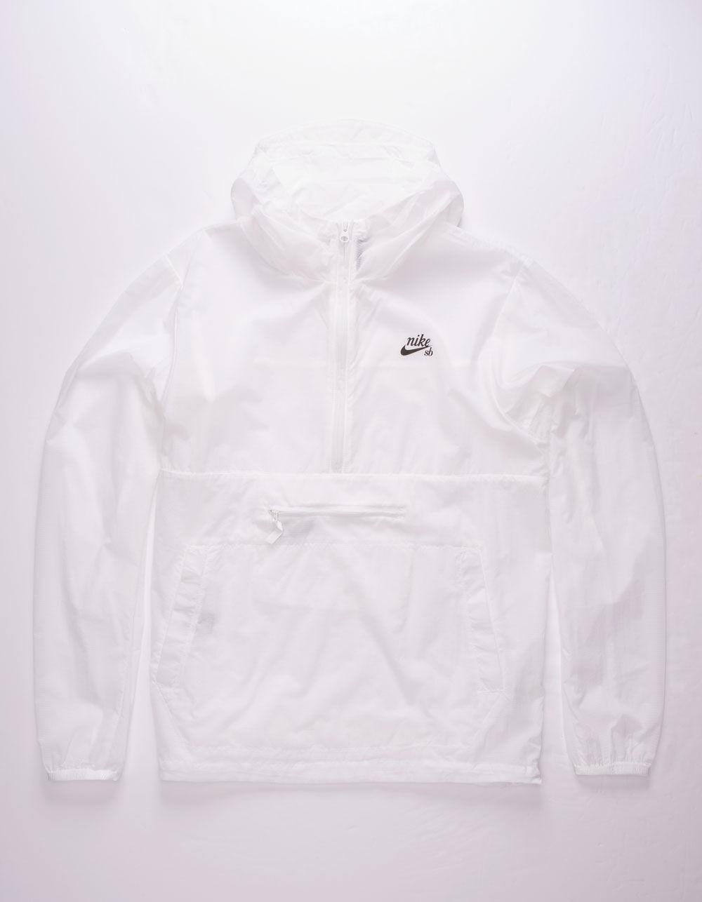 NIKE SB Skate White Anorak Jacket