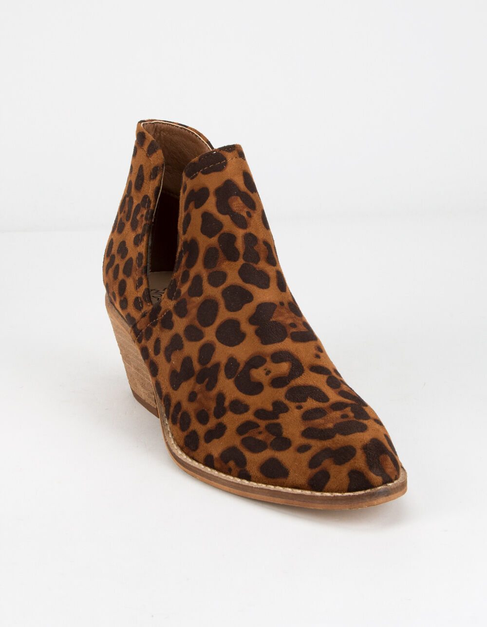 BEAST FASHION Chop Out Leopard Booties