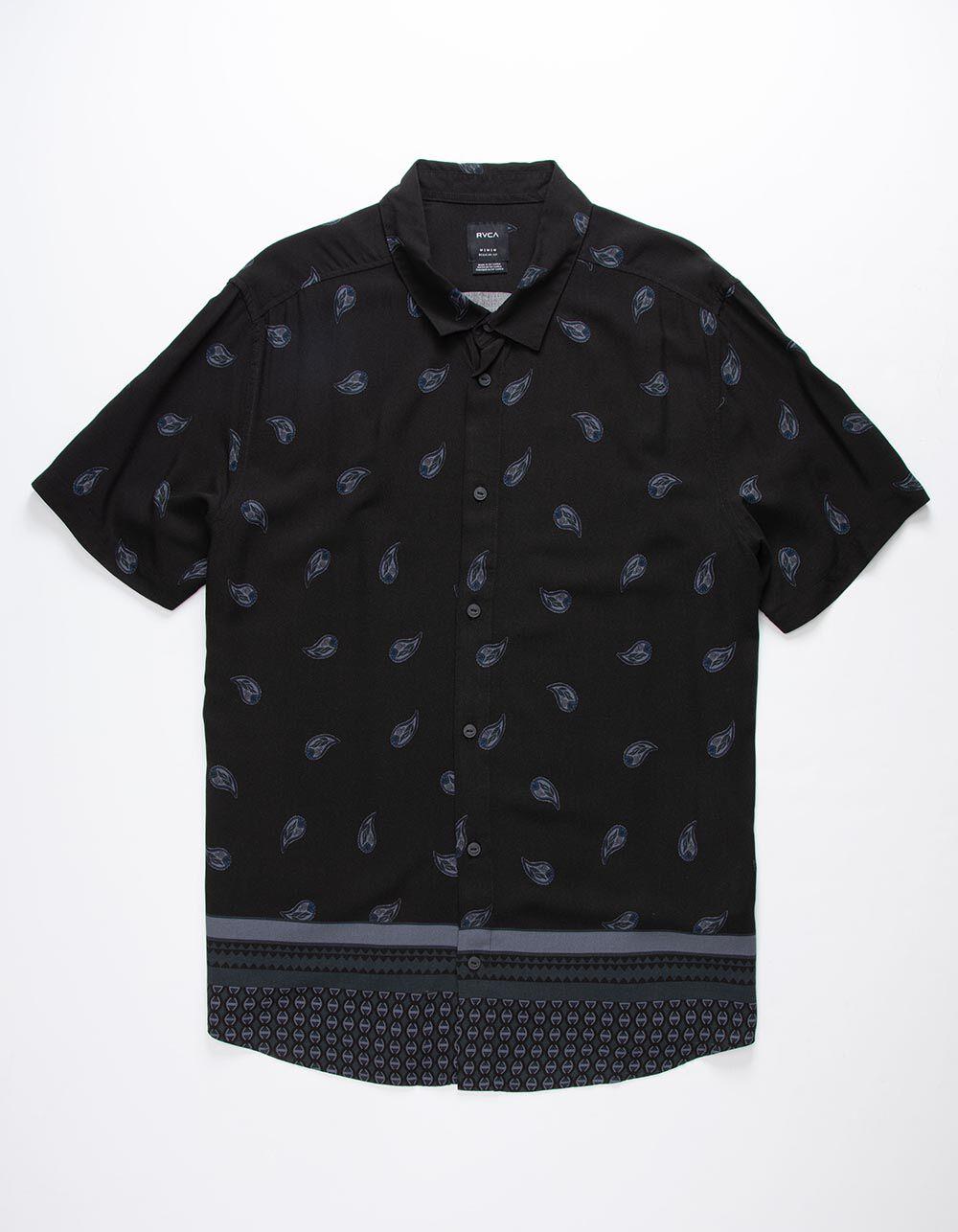 RVCA Lux Paisley Black Shirt