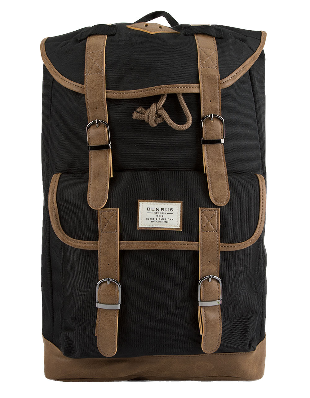 Image of BENRUS SCOUT BLACK BACKPACK