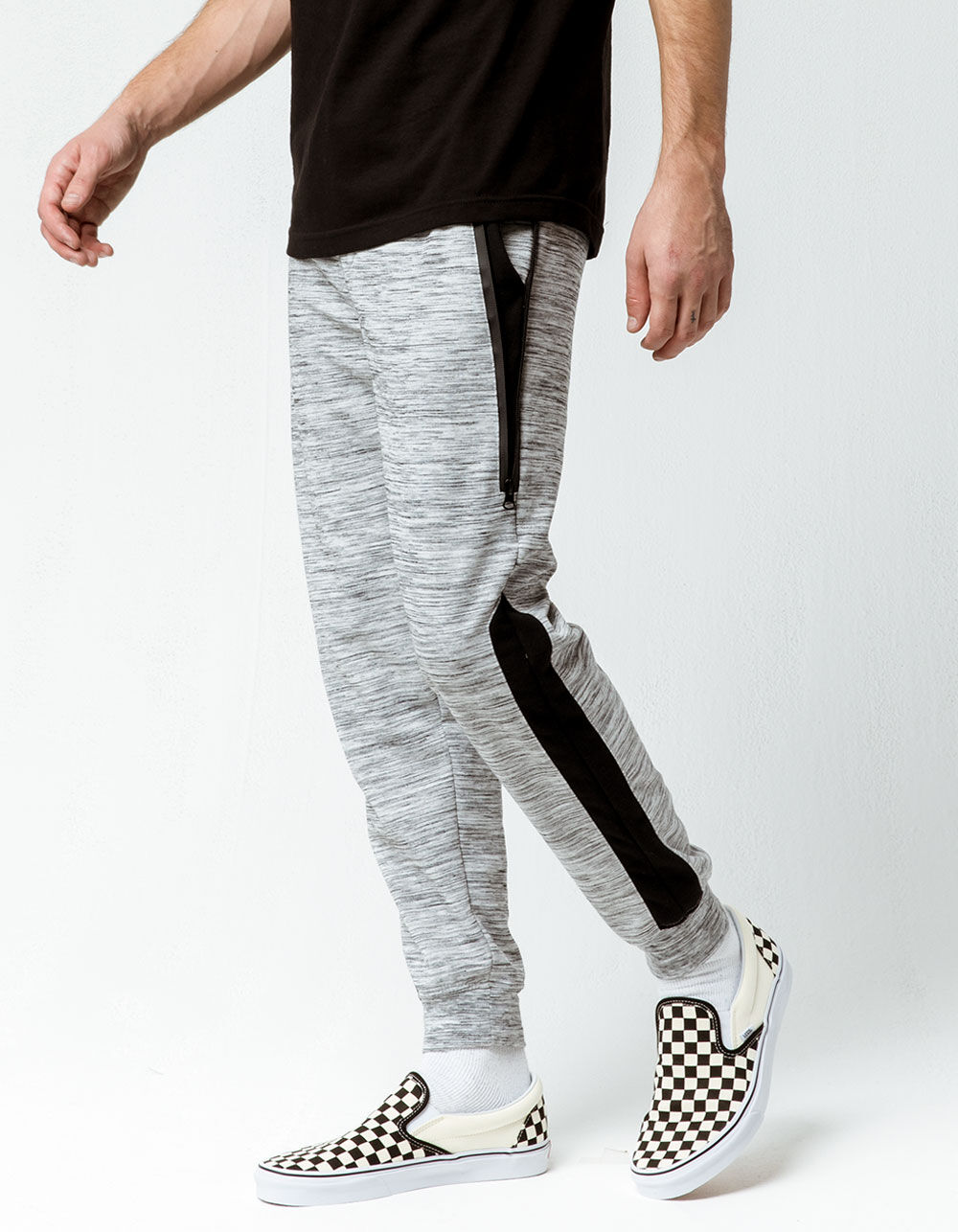Image of BROOKLYN CLOTH SPACE DYE MARLED KNIT JOGGER PANTS