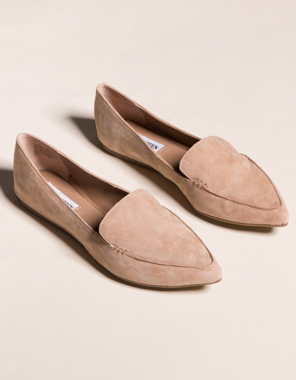 STEVE MADDEN Feather Camel Loafers