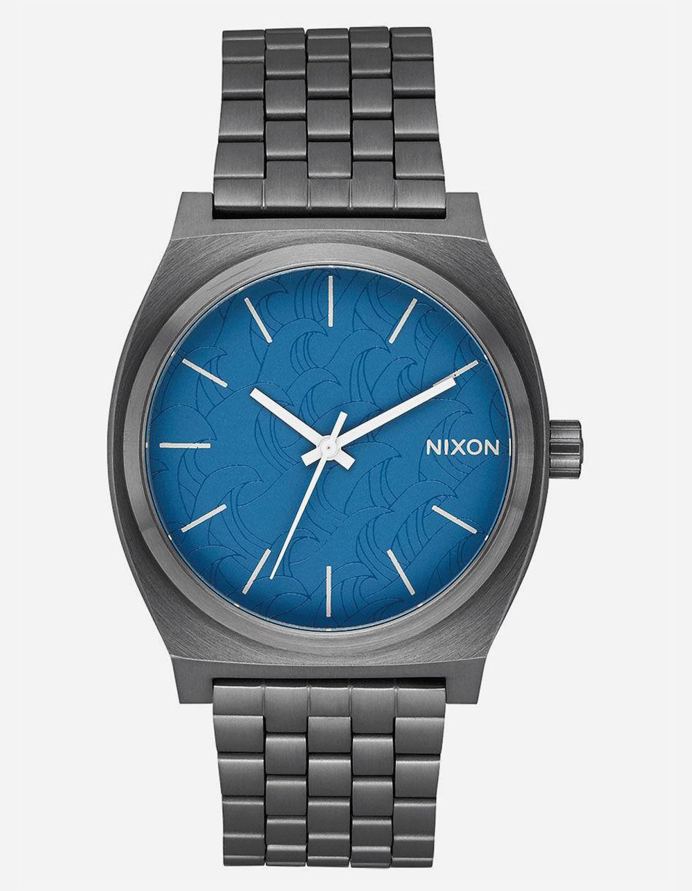 NIXON TIME TELLER NAVY & GUNMETAL WATCH