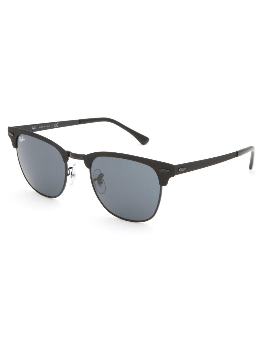 RAY-BAN Clubmaster Metal Black & Black Gradient Sunglasses