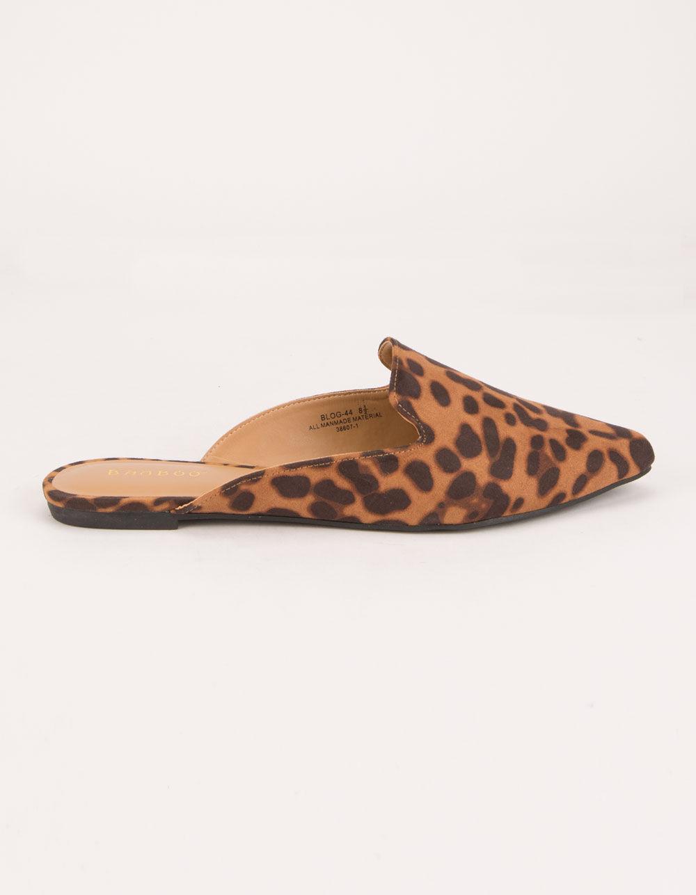 BAMBOO Blog Leopard Mules