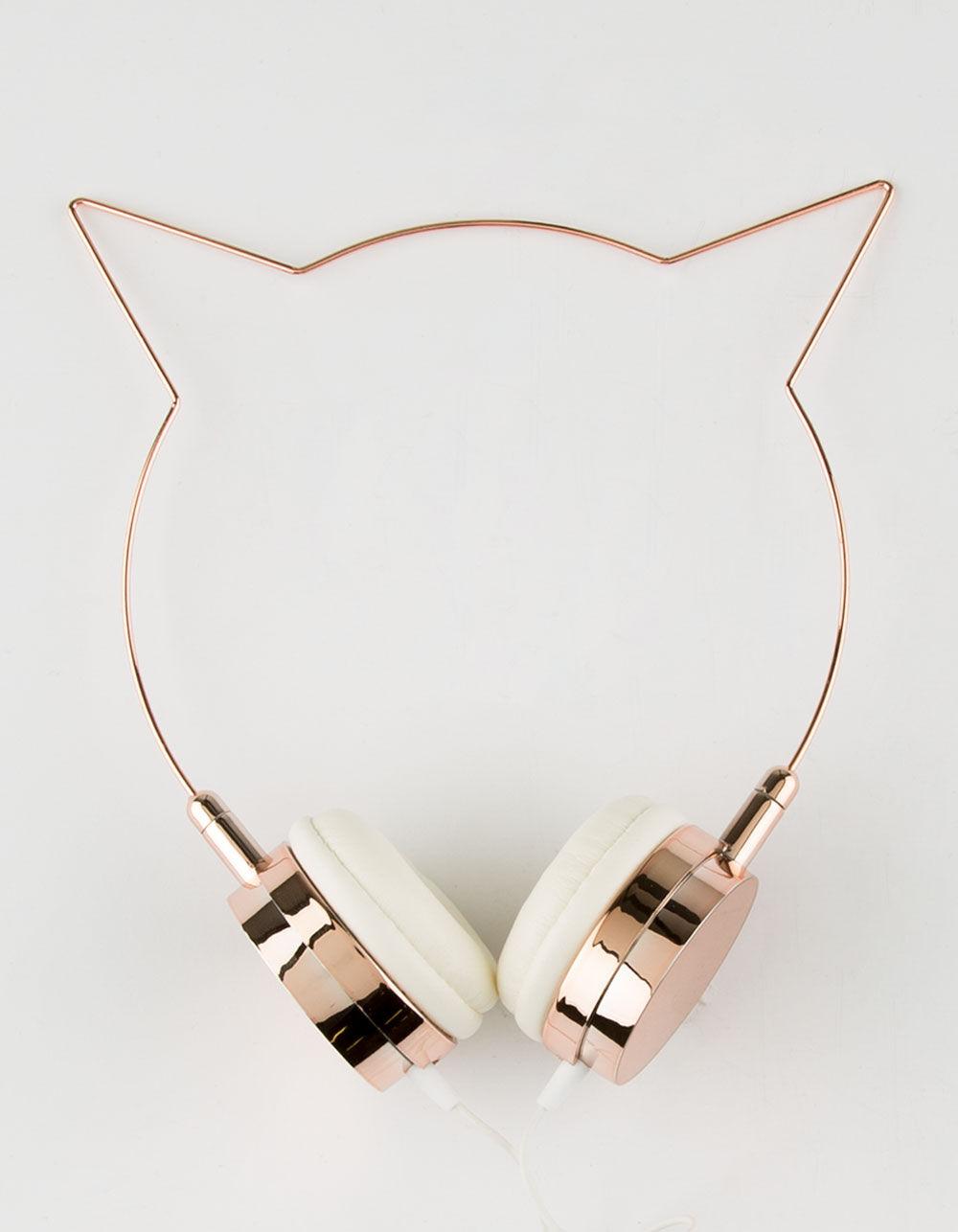 Image of ROSE GOLD CAT EAR HEADPHONES