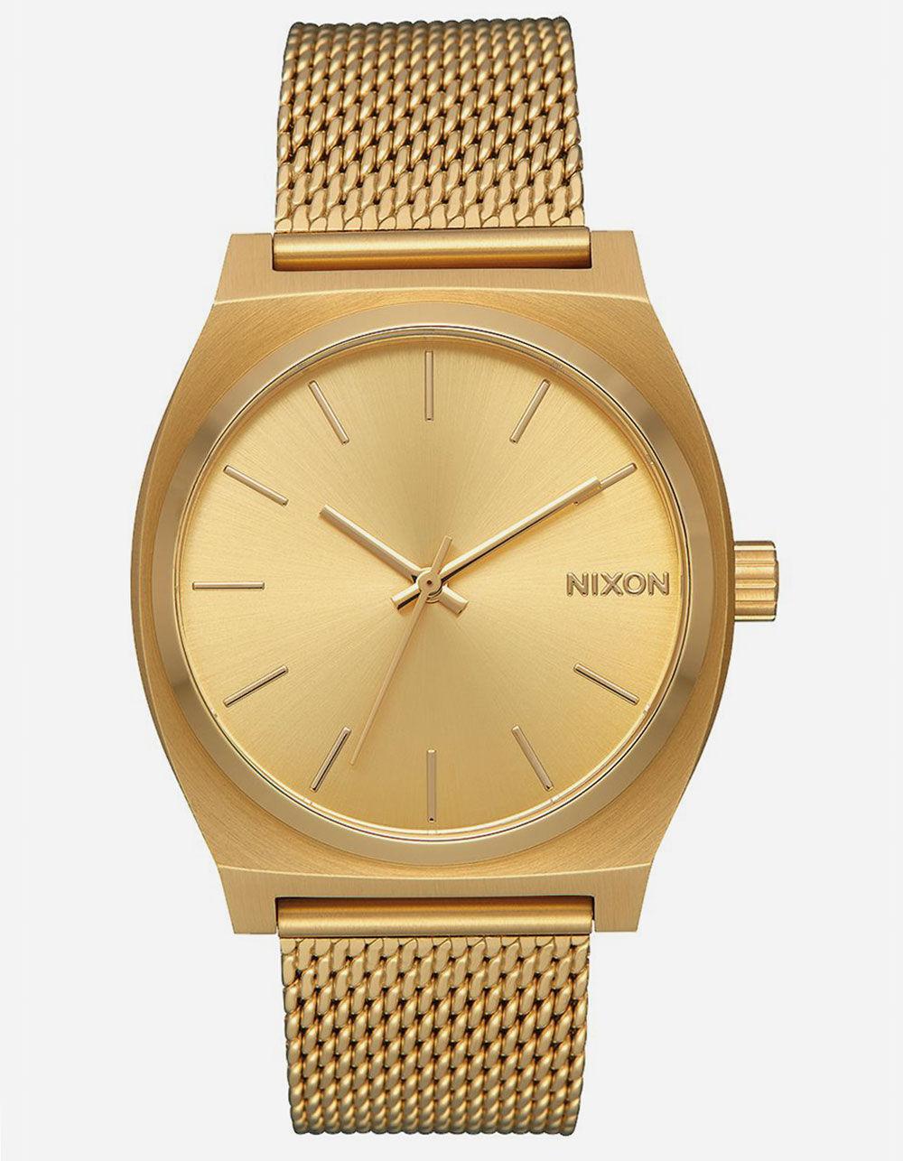 NIXON Time Teller Milanese Gold Watch