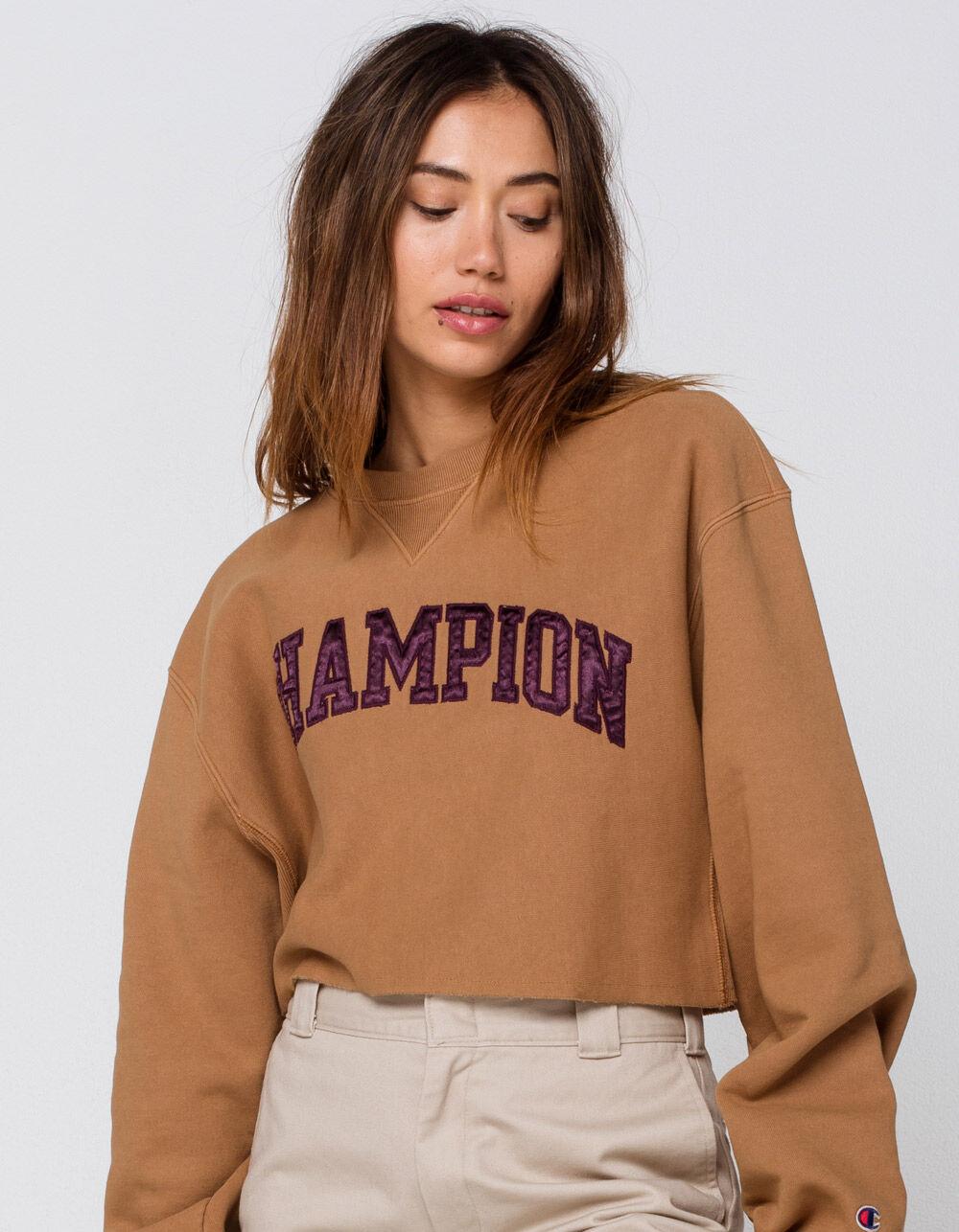 CHAMPION Crop Vintage Wash Crew Sweatshirt