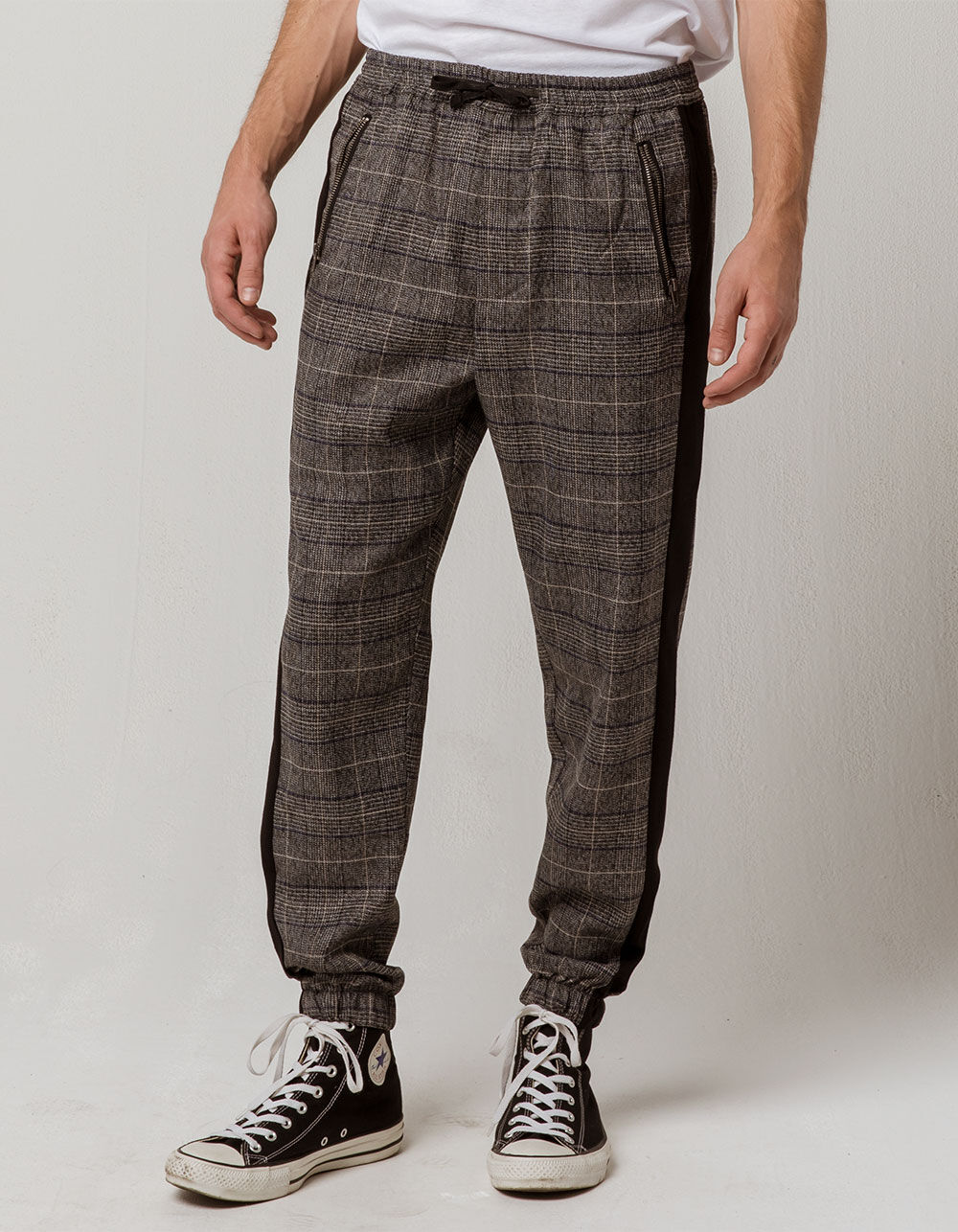 Image of EAST POINTE GREY PLAID JOGGER PANTS