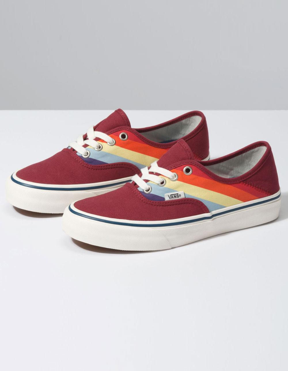 VANS Rad Rainbow Authentic SF Biking Red & Marshmallow Shoes