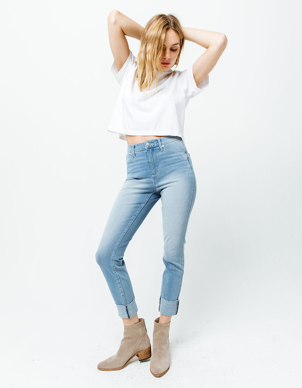 RSQ High Rise Ankle Medium Wash Skinny Jeans