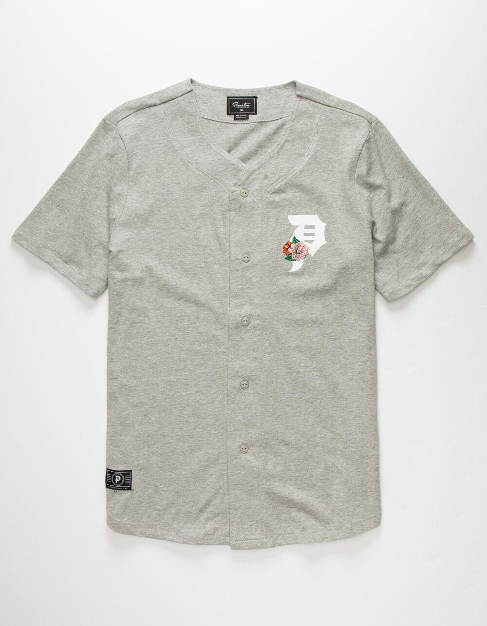 PRIMITIVE Hibiscus Baseball Gray Jersey T-Shirt