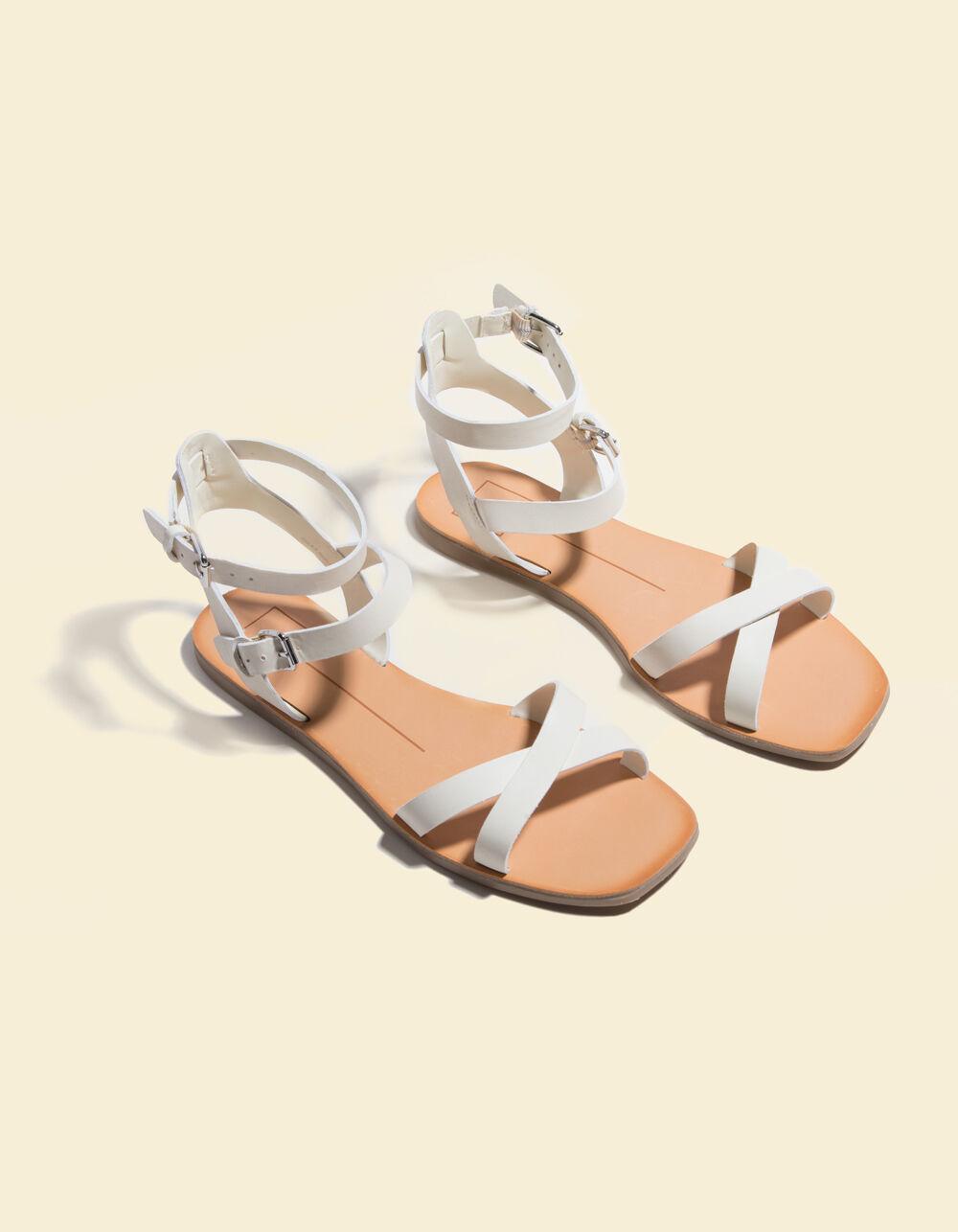 DOLCE VITA Canta White Sandals