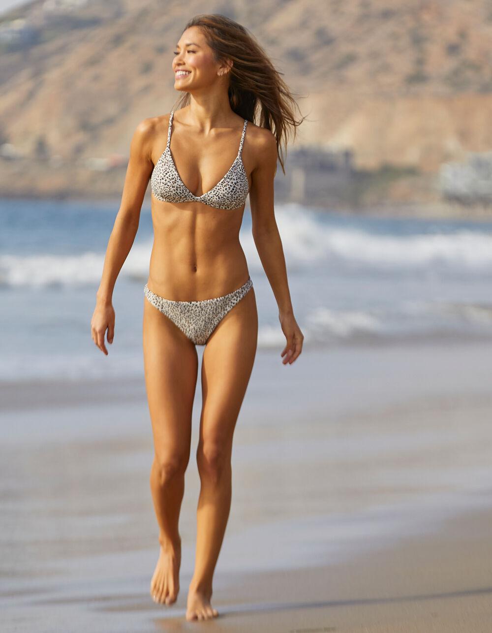 FULL TILT Leopard High Leg Cheeky Bikini Bottoms
