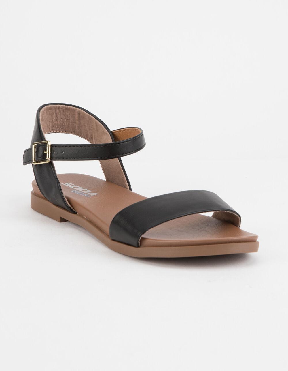 SODA Comfy Meadow Black Sandals