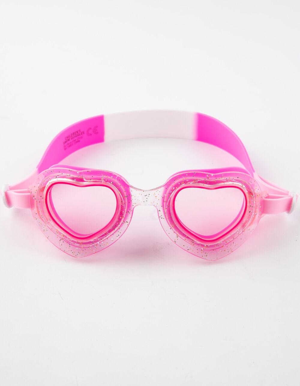 Image of AQUA2UDE Bling Heart Girls Swim Goggles
