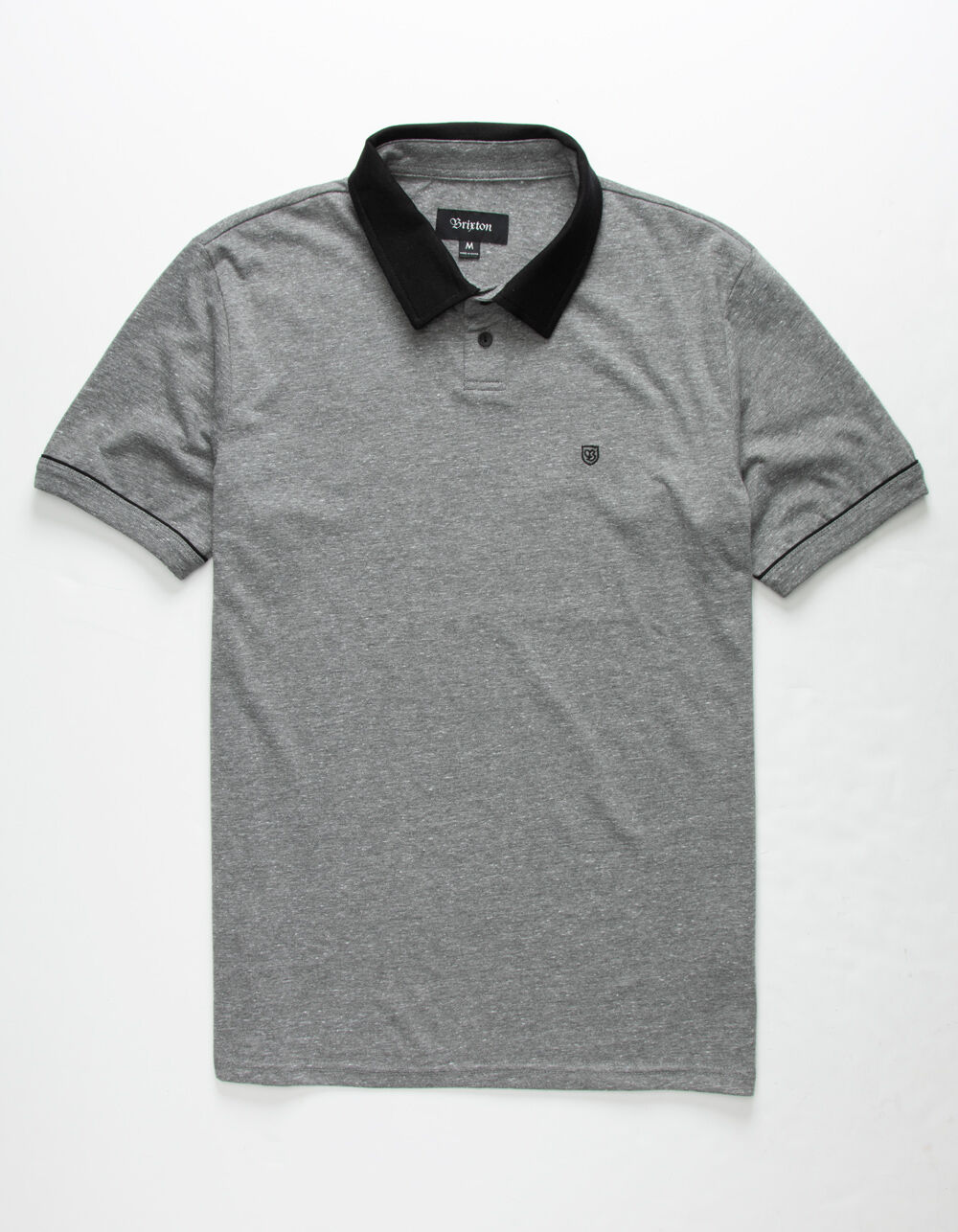 BRIXTON Carlos Black Polo Shirt