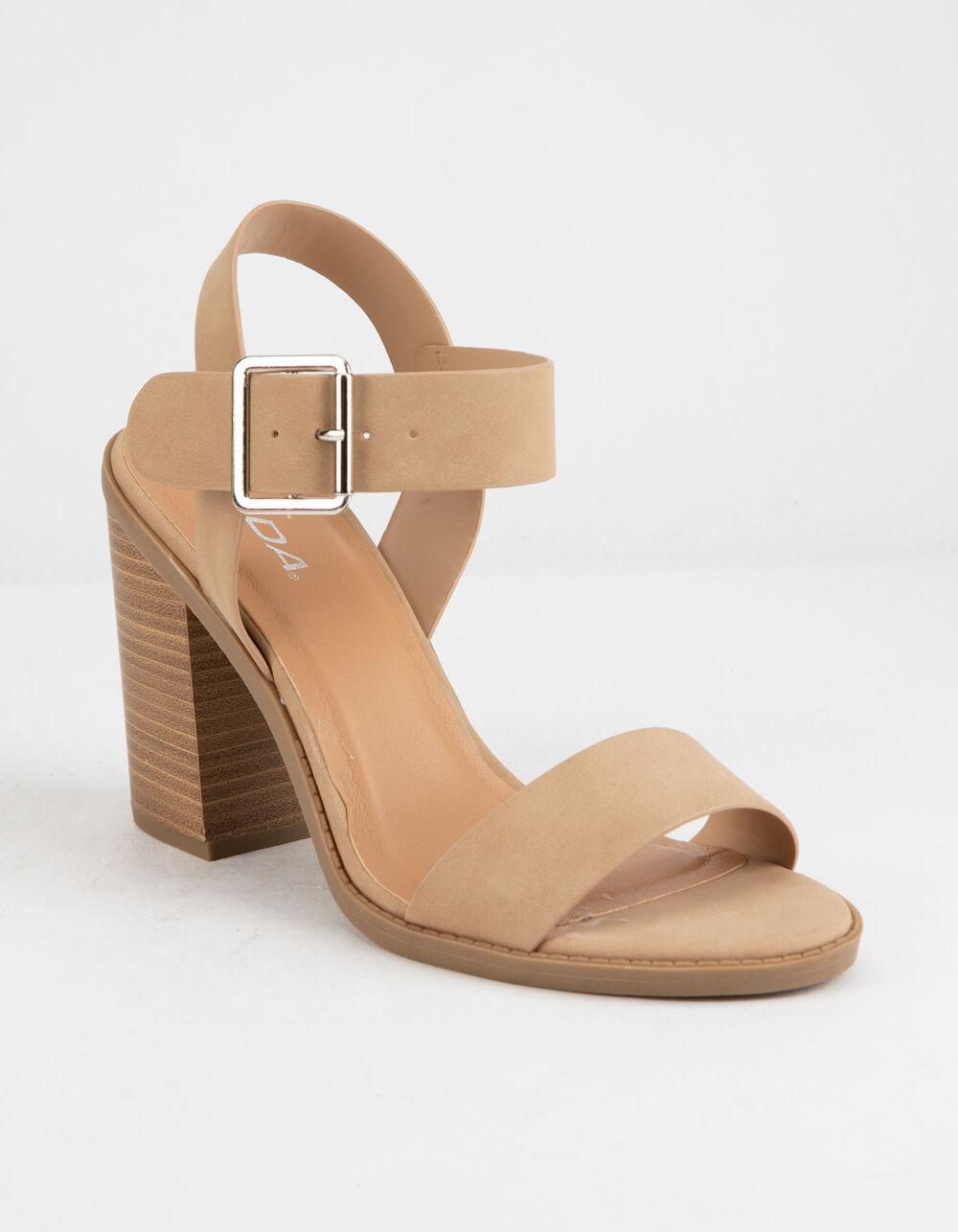 SODA Talbert Natural Heeled Sandals