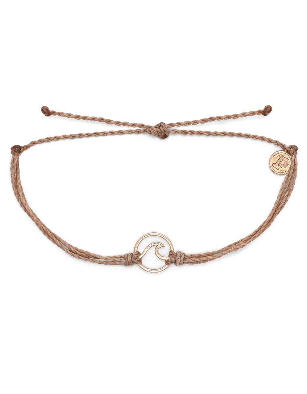 PURA VIDA Wave Rose Gold Brown Bracelet