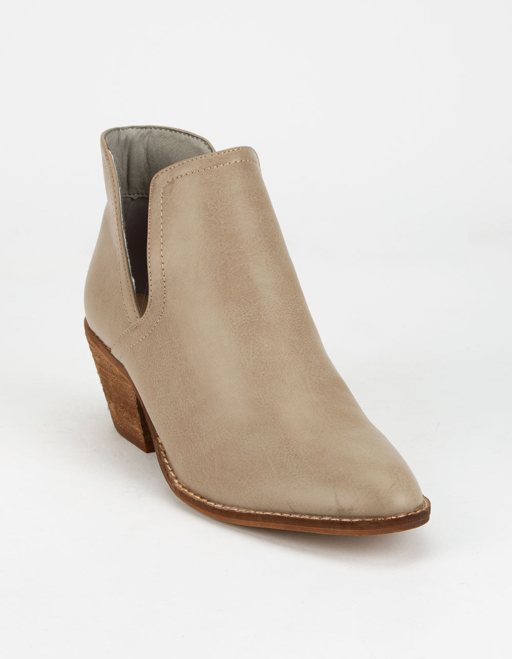 BEAST FASHION Chop Out Gray Booties