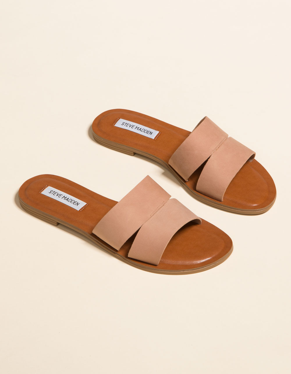 STEVE MADDEN Alexandra Camel Nubuck Sandals