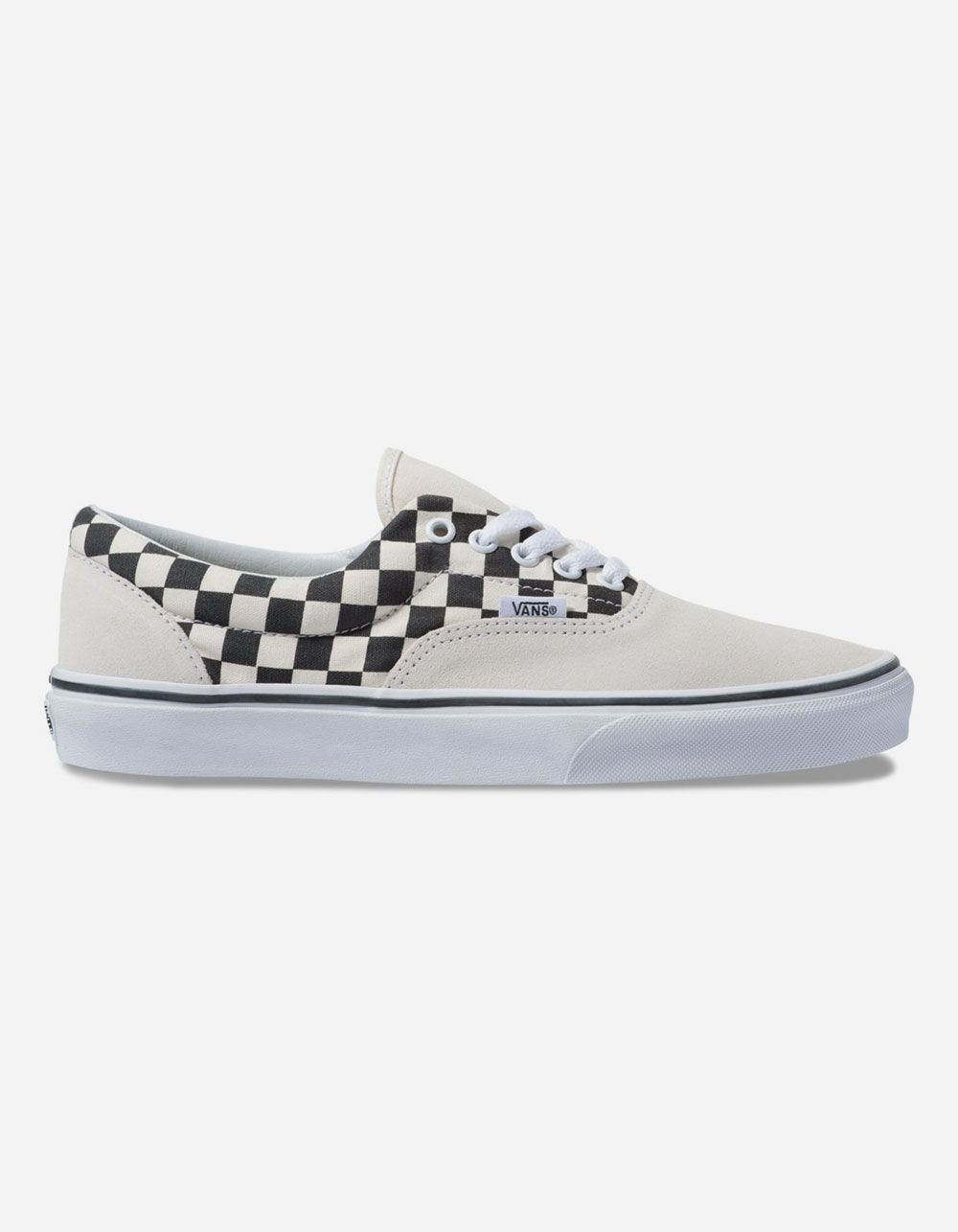 VANS PRIMARY CHECK ERA MARSHMALLOW & BLACK SHOES
