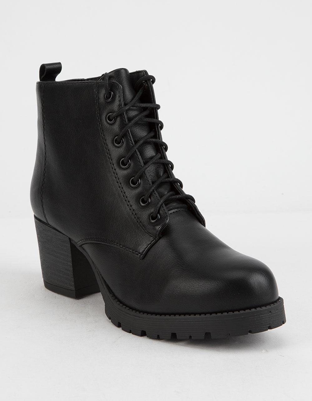 SODA Nevitt Heeled Combat Boots
