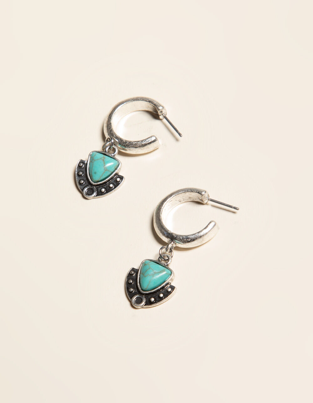 WEST OF MELROSE Turquoise Antique Earrings