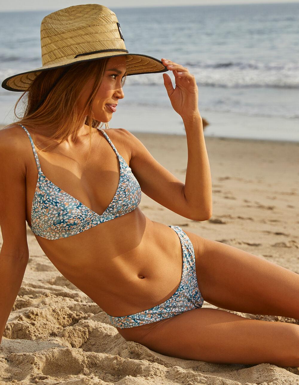 ROXY Printed Beach Classics High Leg Bikini Bottoms