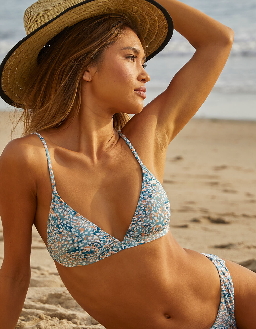 ROXY Printed Beach Classics Fixed Triangle Bikini Top
