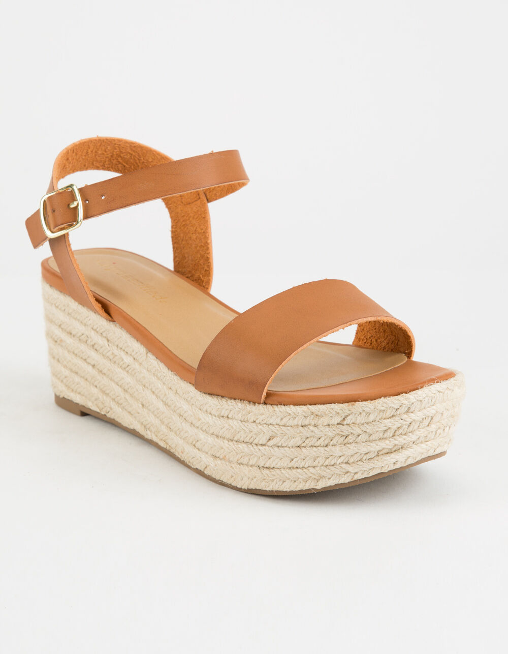 CITY CLASSIFIED Espadrille Tan Platform Sandals