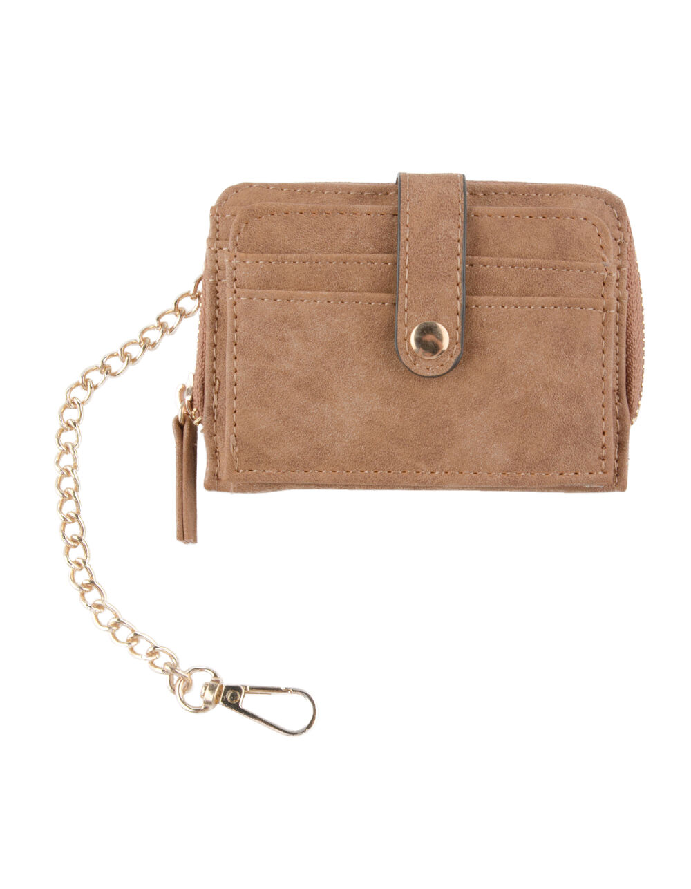 VIOLET RAY ZIP AROUND COGNAC WALLET