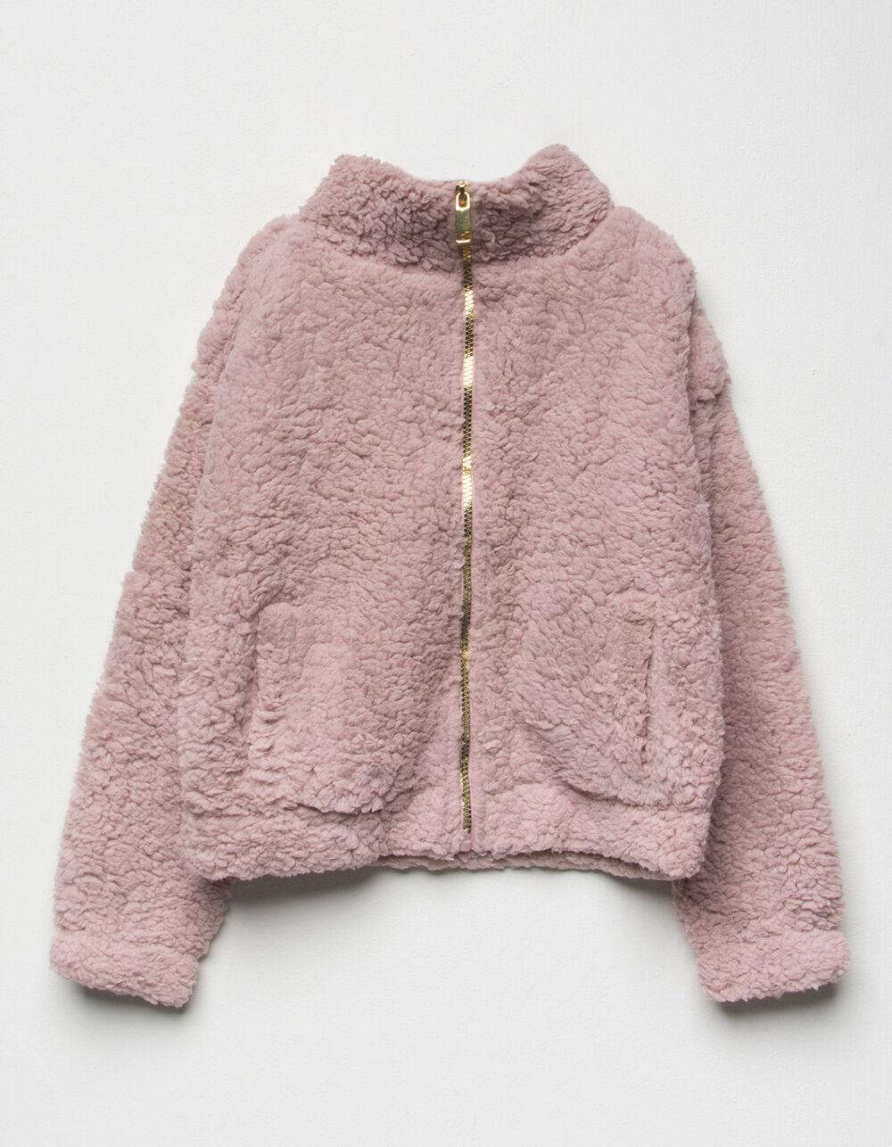 Image of LOVE + JOY Sherpa Mauve Girls Jacket