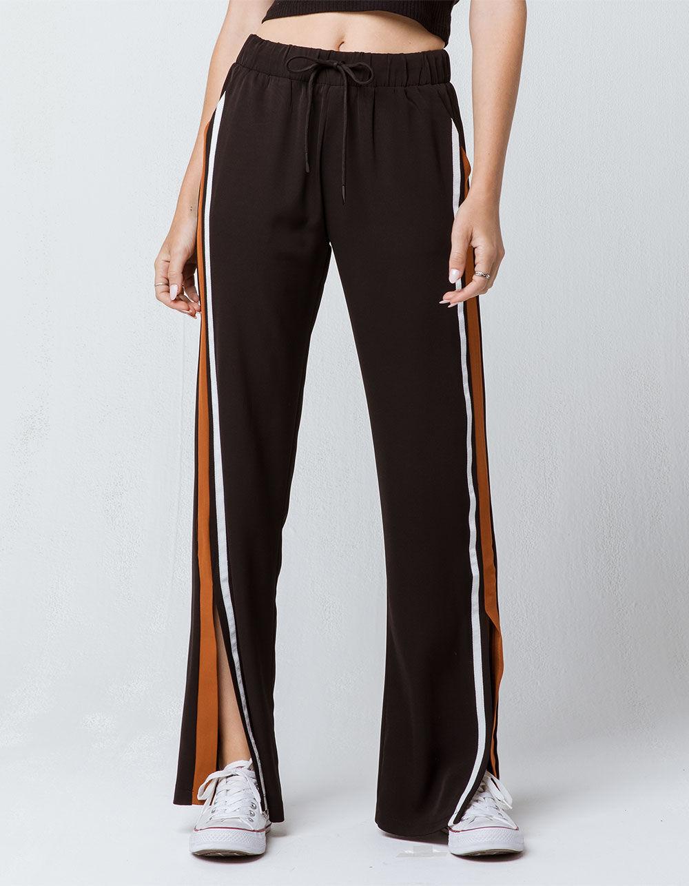 SKY AND SPARROW Side Stripe Wide Leg Pants