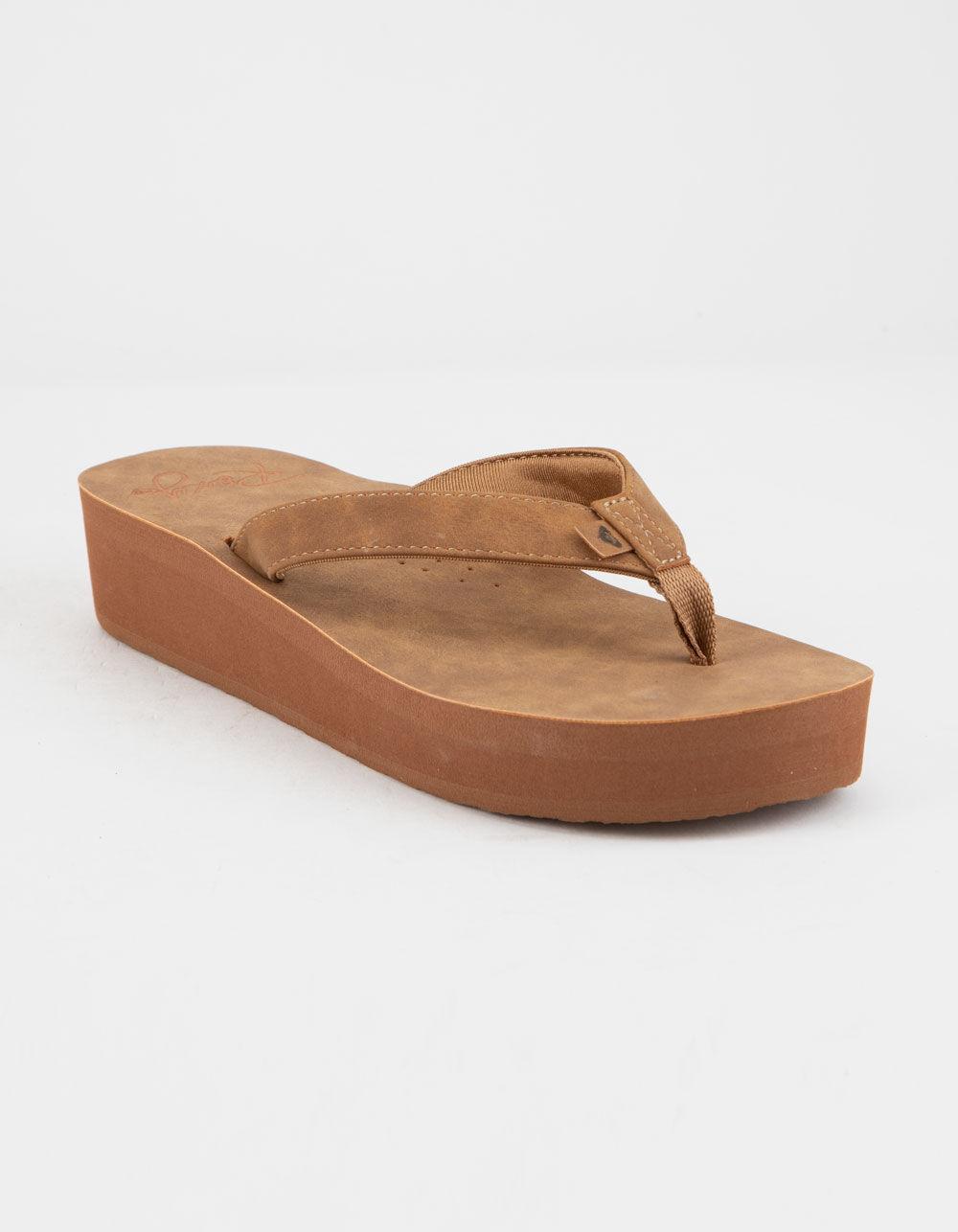 ROXY Melinda Tan Platform Sandals