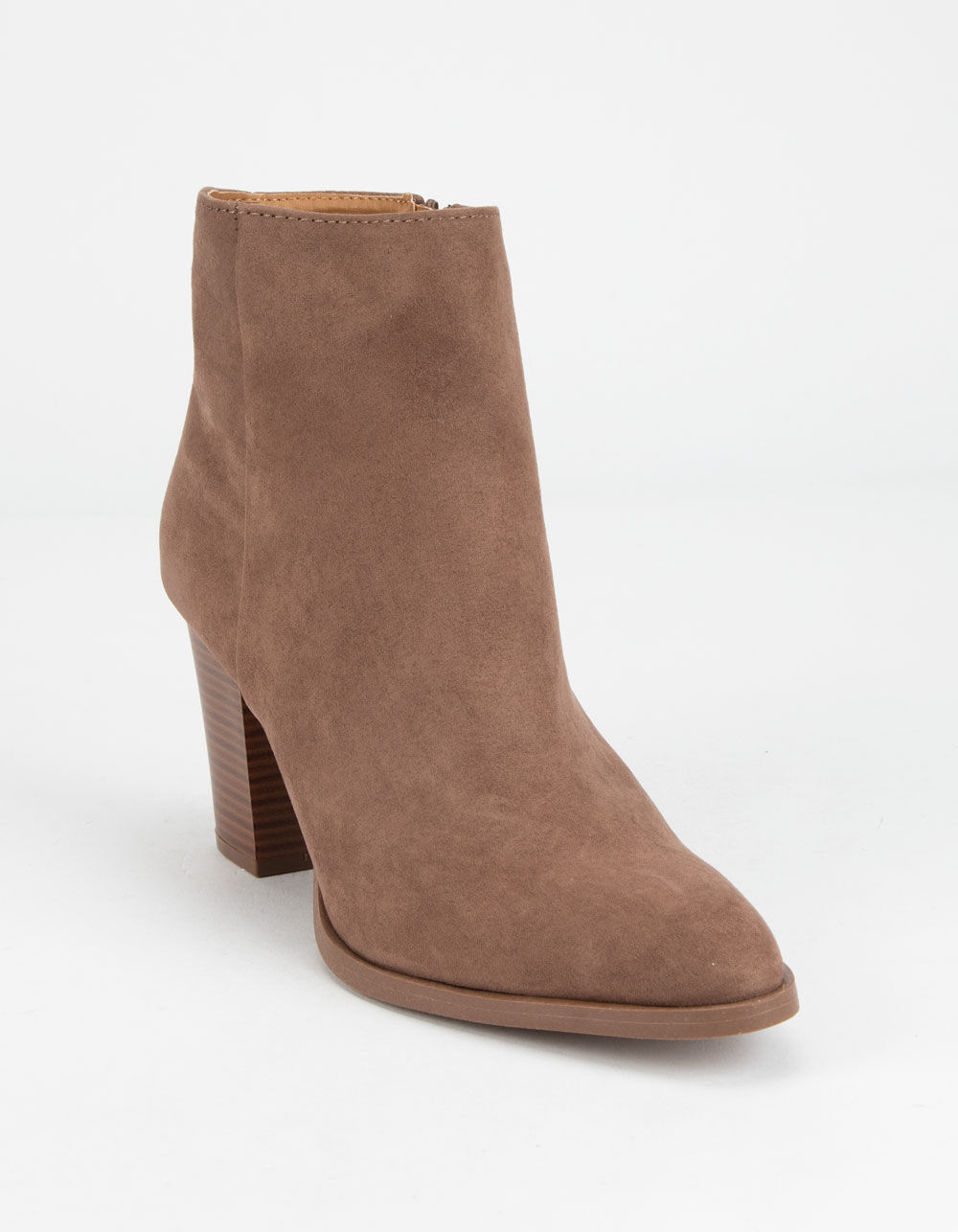QUPID Clean Taupe Booties