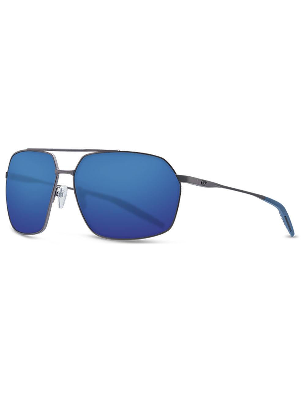 COSTA Pilothouse Matte Dark Gunmetal & Blue Mirror Polarized Sunglasses
