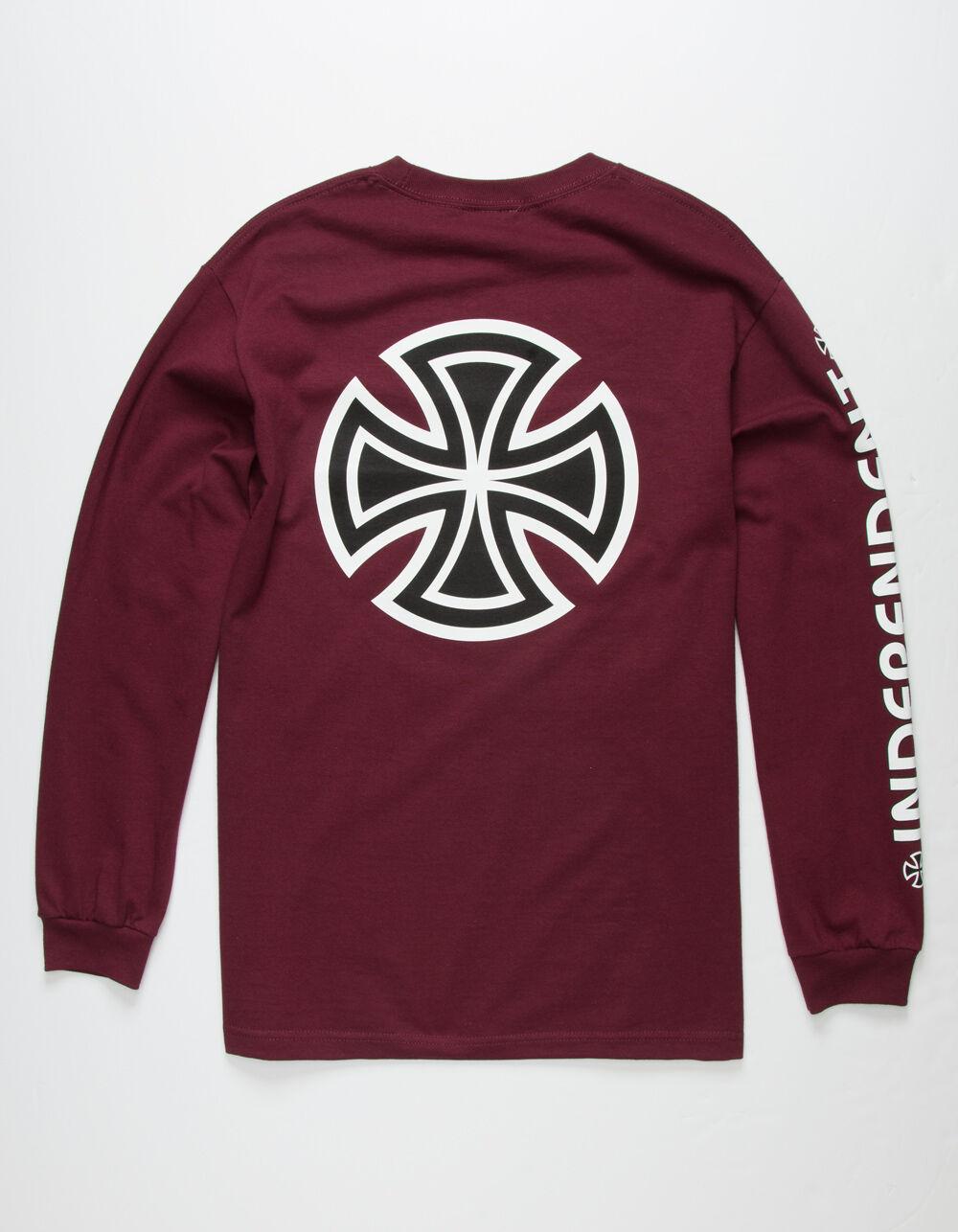 INDEPENDENT Bar Cross Burgundy T-Shirt
