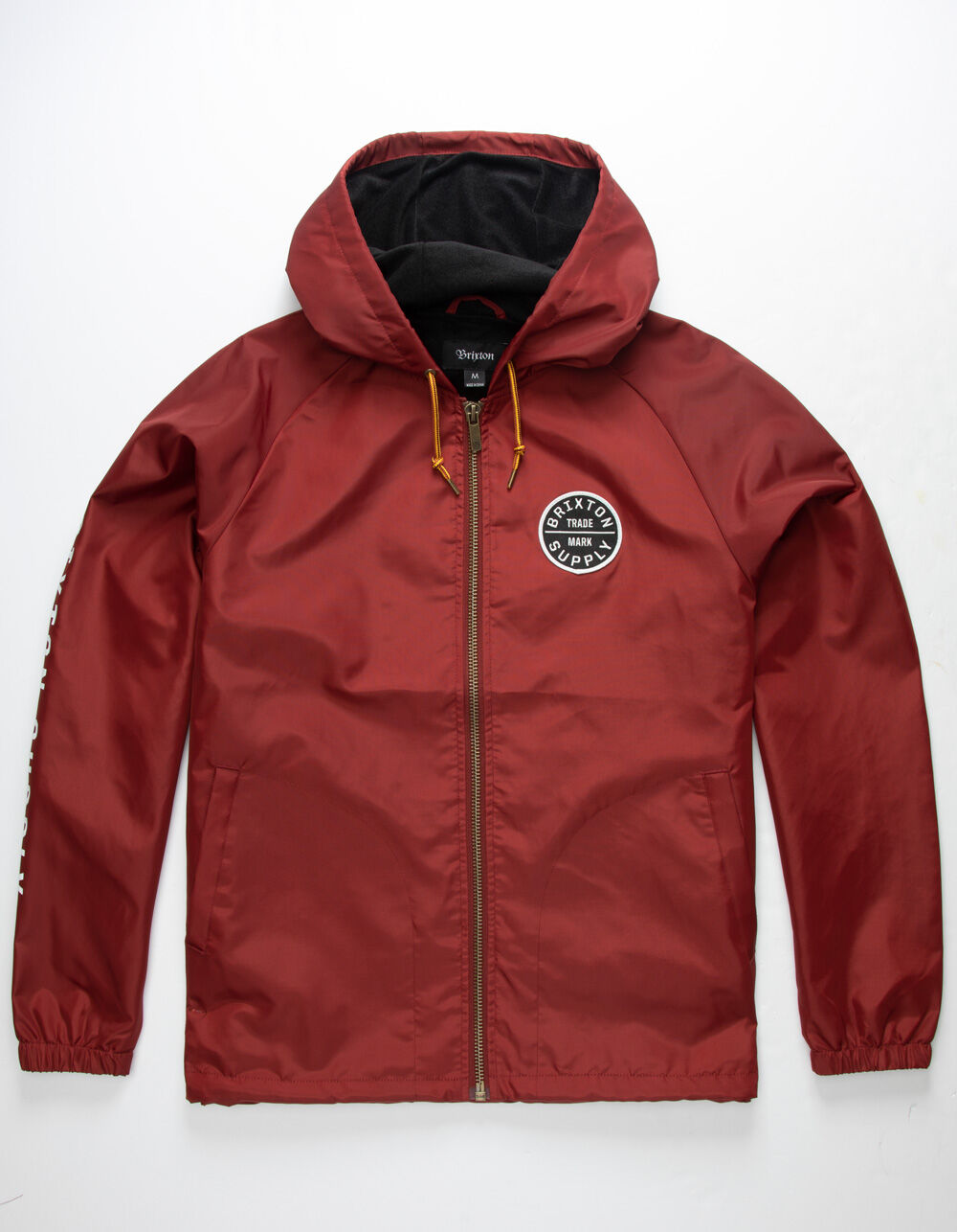 BRIXTON Oath II Burgundy Windbreaker Jacket